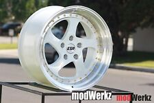 17x8.5 17x9.5 Inch +30 ESR SR02 5x120 White Wheels Rims BMW E36 E46 E90 Z3 Z4