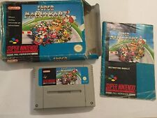PAL SUPER NINTENDO ENTERTAINMENT SYSTEM SNES GAME SUPER MARIO KART MARIOKART