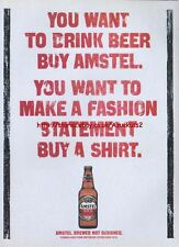 "Amstel Beer ""Buy A Shirt"" 1995 Magazine Advert  #388"