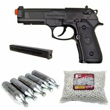 WG 302 M9 Beretta Style CO2 Airsoft Pistol Extra Clip 5 CO2 Cartridges 1200 BBs