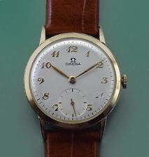 Vintage 1948 Solid 14k Solid Gold Omega Classic Men's Dress Men's Watch