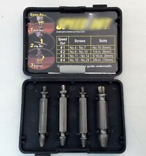 4x Extractor Drill Bits Guide Set Broken Damaged screw extraction parts Remover