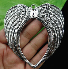 Beautiful Tibetan carved angel wings pendant bead BC1897