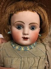 """Antique STEINER 17"""" Jointed Body Doll As Found - Open Mouth Earrings Clothing"""