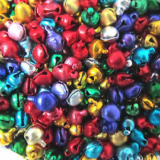 Lots 50Pc Jingle Bells Xmas Charms Jewelry Mixed Beads Pendants Decor Findings