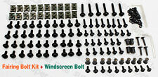 Black Moto FAIRING BOLTS CLIPS SCREWS+Windshield Bolts For Ninja 300 2013-2015