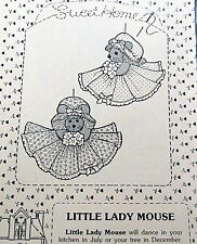 "Sweet Home Designs TINY Mouse craft pattern Ornament 2.5"" Little Lady Mice Vtg"