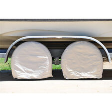 "New 28"" 4Pc Beige Canvas Wheel Tire Covers For RV Trailer Camper Car Truck Motor"