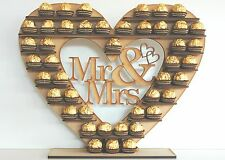 """Mr & Mrs"" FERRERO Rocher Cuore Tree Matrimonio Display Stand caratteristica principale"