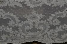 Antique French Alencon Net Lace Tablecloth Ecru 105 x 65 Floral Chantilly Beauti