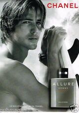 Publicité advertising 2012 Eau de Toiltte Allure Homme Sport de Chanel