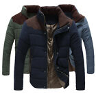 HN154C New Men's Winter Warm Wadded Jacket Short Rider Zip Slim Fit Stylish Coat