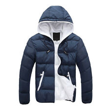Slim Casual Warm Jacket Hooded Winter Thick Coat Parka Overcoat Hoodie Men Set