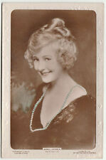 Vintage JEWEL CARMEN Silent Actress Embossed photograph postcard 1920 Colourised
