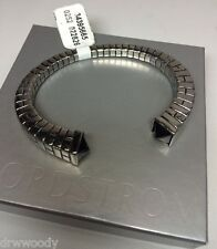 NWT AUTHENTIC HAN CHOLO Stainless Steel Pyramid Cuff Bracelet ~ Black Onyx