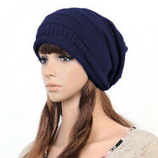 New Mens Womens Knitted Winter Warm Ski Slouch Hat Oversized Beanie Hip Hop Cap