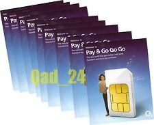 100 x O2 PAYG 02 SIM CARDS MOBILE PHONE NUMBER BULK WHOLESALE JOBLOT SIMCARDS UK