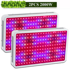 2PCS 2000W LED Grow Light Panel Full Spectrum Lamp for Hydroponic Plant Growth