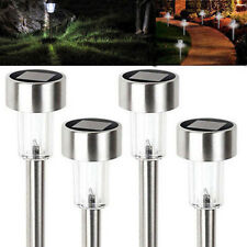 Stainless Steel Solar Light Lamp Landscape Led Lawn Outdoor Garden Path 4 Pack