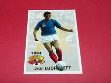 FOOTBALL CARD PANINI 1994 JEAN DJORKAEFF FRANCE LYON OL OM MARSEILLE PARIS PSG