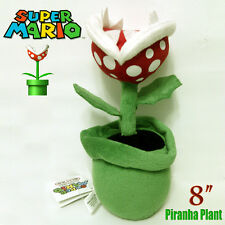 Piranha Plant Super Mario Bros Plush Flower Soft Toy Stuffed Animal Pipe Doll 8""