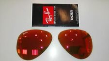 CRISTALES RAY BAN AVIATOR RB3025 112 69 CAL.55 ROJO ESPEJO RB8307 ORIGINALES NEW