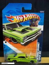 HOT WHEELS 2011 #110 -10 69 DODGE CORONET SUPER BEE PEA GRN TAMP TRUNK 11 FS CA