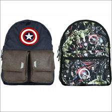 Marvel Captain America Avengers Hulk Iron Man Thor Reversible Backpack Bag NEW