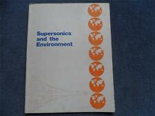British Aircraft CorporationBrochure 1973 Supersonics and the Environment Rare