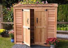 6' x 3' Grand Garden Chalet Cedar Storage Shed - ON SALE NOW