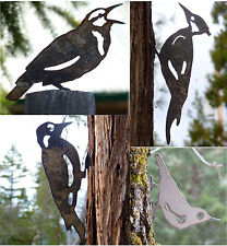 4 Bird Pack PILEATED WOODPECKER MEADOWLARK NUTHATCH Lifesize Metal Garden Art