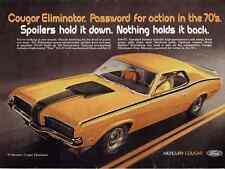 1970 MERCURY COUGAR ELIMINATOR  ~  CLASSIC ORIGINAL MUSCLE CAR AD