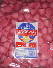 FACTORY SEALED 900G BAG OF RED SUGAR COATED MARSHMALLOW PAINT BALLS APPROX 150