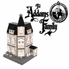 LEGO Addams Family mansion instructions custom mini modular 10228 10230 MOC BW