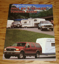 Original 2001 Ford Truck RV & Trailer Towing Guide Sales Brochure 01