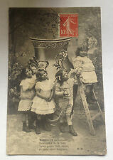 Carte Postale Ancienne Enfants Fille Garçon Costume 1912 Old Postcard Children