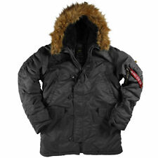 Alpha Industries Men's N-3B Parka,  Black, Medium