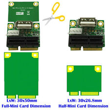 1pcs PCI-E 1X to Half/Full Mini PCI-E Adapter