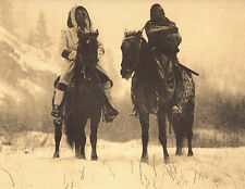 """EDWARD CURTIS Indian Tribe """"WINTERS CAMPAIGN"""" Native American Photo Book Print"""
