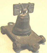 Vintage Miniature Pewter FORT Train Flat Car LIBERTY BELL Americana