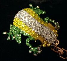 SWAROVSKI CRYSTAL KEY RING PURSE CHARM FROG