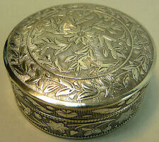 ANTIQUE PERSIAN SILVER BOX & COVER 45 GRAMS C.1890