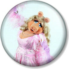 "Miss Piggy 25mm 1"" Pin Button Badge Sesame Street Retro Kids TV Muppets Puppet 2"