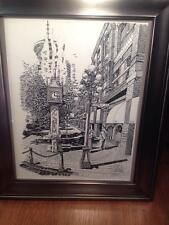 hand signed  Print of the Gastown steam clock in Vancouver BC.07.23.86
