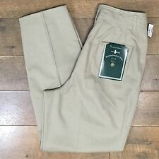 New HUNT CLUB Women's Khaki Pants Wrinkle Free Pleated Front Size 12 Average NWT
