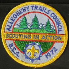 BSA Patch 1972 Allegheny Trails Council Scouting in Action