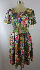 NWT LuLaRoe Amelia S Small Dress Vtg Watercolor Floral Portrait Picture Frame