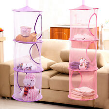 3 Shelf Hanging Storage Net Organizer Bag Bedroom Door Wall Closet Organizer New