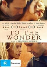 To The Wonder (Region 2 DVD, 2013) ***SELLING FOR CHARITY