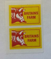 "BRITAINS LAND ROVER ""BRITAINS FARM"" DECALS/STICKERS"